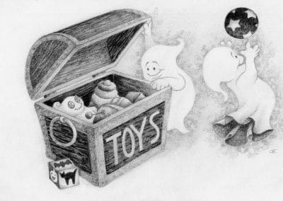 Drawtober 2018, Day 11 - Haunted Toy Box