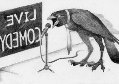 Drawtober 2018, Day 25 - Murder of Crows