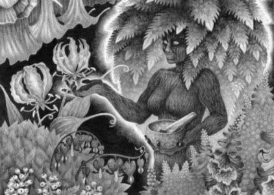 "Witch's Garden - 14x11"" First Edition"