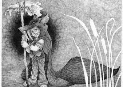"Wolf's Bane, the Littlest Werewolf Hunter - 11x14"" First Edition"